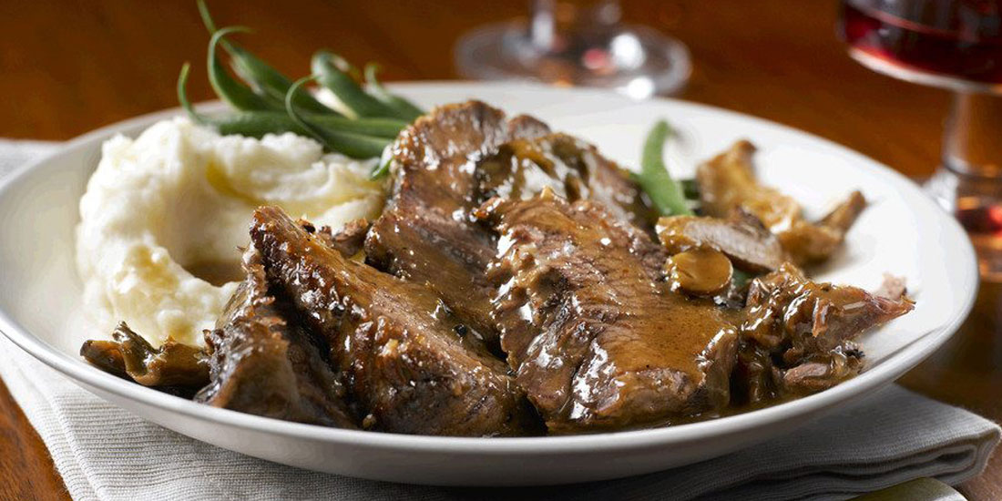 Slow Cooker Marvellous Mushroom Pot Roast